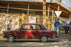 Touristischer Bestimmungsort Sheki im Kaukasus stockbild