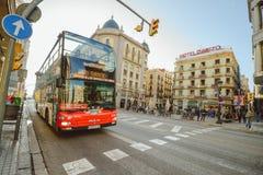 Touristischer Bus in Barcelona Stockbilder