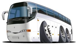 Touristischer Bus der vektorkarikatur Lizenzfreies Stockbild