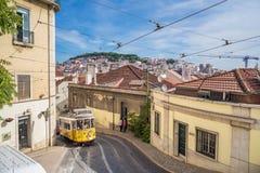 Touristischer Platz in im Stadtzentrum gelegenem Lissabon, Portugal, Europa stockfotos