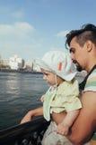 Touristischer Vater And Son Lizenzfreies Stockbild