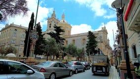 Touristischer Zug in Rabat, Malta stock video footage