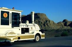 touristisches Automobil der Karamay-Teufel Stadt lizenzfreie stockbilder