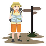Touristisches Charakterdesign Lizenzfreie Stockbilder