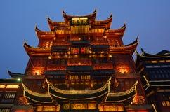 Touristisches Handelszentrum Yuyuan in Shanghai China lizenzfreies stockfoto