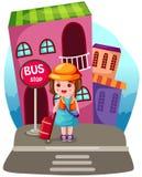 Touristisches Mädchen lizenzfreie abbildung