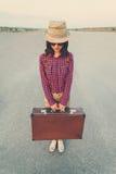Touristisches Mädchen Lizenzfreie Stockfotos