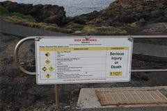 Touristisches Warnzeichen Lizenzfreies Stockbild