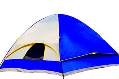 Touristisches Zelt mit weißem Hintergrund Stockbilder