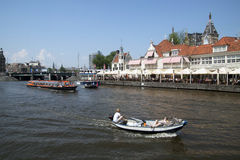 Touristit in Amsterdam Stock Photo