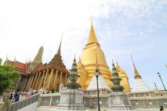 Touristm in WatPraKaew public landmark Thai Temple Stock Images
