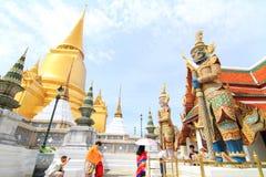 Touristm in WatPraKaew public landmark Thai Temple Royalty Free Stock Photos