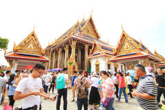 Touristm in WatPraKaew public landmark Thai Temple Royalty Free Stock Images