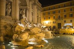Tourists admire the fountain night Stock Image