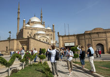 Tourists admire the magnificent Citadel of Salah Al-Din in Cairo, Egypt. Stock Photography