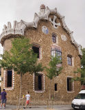 Tourists admire the Park Guell Stock Photo