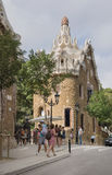 Tourists admire the Park Guell Royalty Free Stock Image