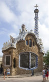 Tourists admire the Park Guell Stock Photography