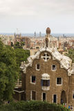 Tourists admire the Park Guell Royalty Free Stock Photo