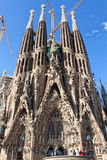 Tourists admiring La Sagrada Familia Stock Photography
