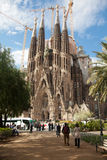 Tourists admiring La Sagrada Familia Royalty Free Stock Images