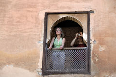 Tourists in the Alhambra,Granada Spain Stock Photo