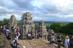 Tourists at Angkor Wat ,Cambodia Royalty Free Stock Photography