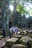 Tourists at Angkor Wat ,Cambodia Stock Photo