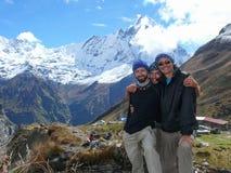 Tourists at Annapurna Base Camp Stock Photos