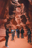 Tourists in Antelope Canyon Royalty Free Stock Images