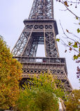 Tourists approaching the Eiffel Tower, Paris Royalty Free Stock Images