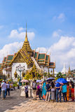 Tourists in the area of The Grand Palace Royalty Free Stock Image