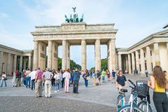 Tourists arrive in large numbers daily to see and photograph the Royalty Free Stock Image