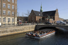 TOURISTS ARE ARRIVING IN COPENHAGEN DENMARK Royalty Free Stock Images