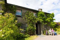 Tourists At Hill Top House Near Sawrey Lake District Former Village Home To Beatrix Potter Stock Photo