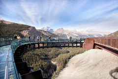 Free Tourists At The Glacier Skywalk Royalty Free Stock Image - 47772456