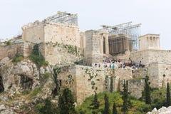Tourists at Athens landmark - Greece Royalty Free Stock Image