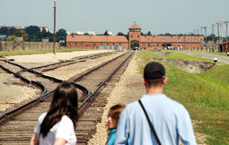 Auschwitz-Birkenau concentration camp Stock Images