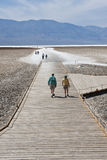 Tourists in Badwater Basin Stock Photos