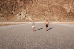 Tourists in Death Valley National Park Stock Images