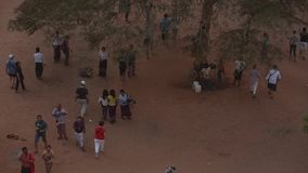 Tourists at Bagan complex stock video footage