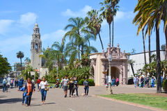 Tourists in Balboa Park Stock Photo