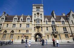 Tourists at Balliol College Oxford Royalty Free Stock Photos
