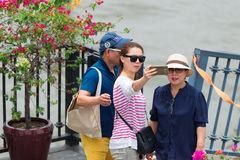 Tourists in Bangkok. Royalty Free Stock Photo