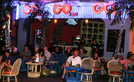 Tourists in the bar in ho chi minh city,vietnam Royalty Free Stock Image