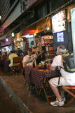 Tourists in the bar in ho chi minh city,vietnam Royalty Free Stock Photography