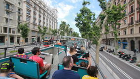 Tourists in Barcelona, Spain stock footage