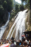 Tourists bathing at Kempty Falls, Mussoorie, India Stock Photos