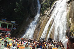 Tourists bathing at Kempty Falls, Mussoorie, India Stock Photography