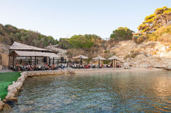 Tourists at beach bar on Cameo Island Royalty Free Stock Image
